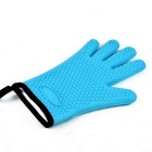 Heat Resistant Silicone Cotton Microwave Oven Glove - Blue