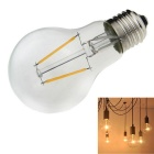 E27 2W 2-LED Filament Bulb Lamp Warm White Light 3000K 180lm - Silver (AC 220~240V)