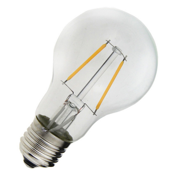 e27 2w 2 led filament bulb lamp warm white light 3000k 180lm silver ac 220 240v free. Black Bedroom Furniture Sets. Home Design Ideas
