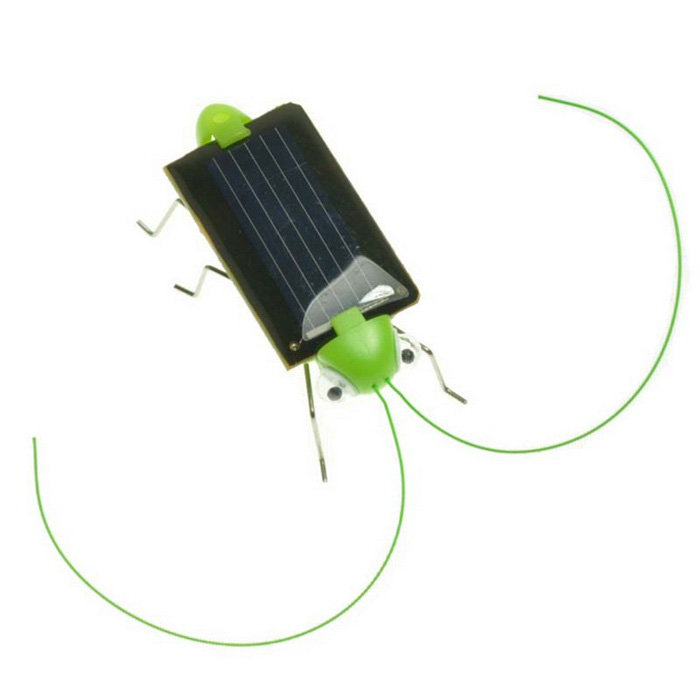Educational Solar Powered Grasshopper Toy - Green + Black (2PCS)Solar Powered Toys<br>Form  ColorGreen + Black + Multi-ColoredMaterialABS + solar panelsQuantity2 DX.PCM.Model.AttributeModel.UnitShape StyleInsects (grasshoppers)Number0Size5*3*1.5cmSuitable Age 3-4 years,5-7 years,8-11 years,12-15 years,Grown upsAssemblingNoPower0.15 DX.PCM.Model.AttributeModel.UnitMotorYesPacking List2 x Grasshoppers<br>