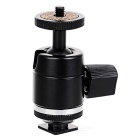 Metal Hot Shoe Ball Head Mount Holder Gimbal PTZ for Surveillance CCTV / Camera / LED Light