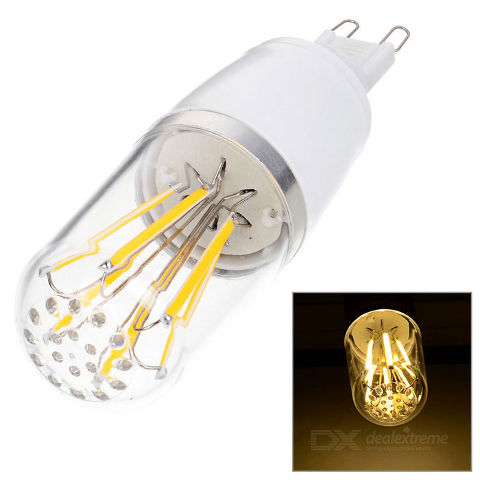 G9 6W Dimmable LED Bulb Warm White Light 3500K 547lm 6-COB (AC 220V)