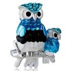 Xinguang Women's Personalized Owl Style Painting Ring - Silver (US Size 9)