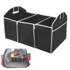 Multipurpose Trunk Pouch Car Glove Box Storage Cubby Box Collapsible Bag - Black