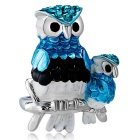 Xinguang Women's Personalized Owl Style Painting Ring - Silver (US Size 8)