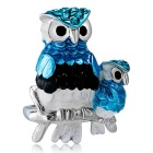 Xinguang Women's Personalized Owl Style Painting Ring - Silver (US Size 7)