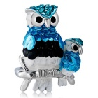 Xinguang Women's Personalized Owl Style Painting Ring - Silver (US Size 6)