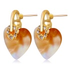 Xinguang Womens Delicate Shells Of Love Golden Earrings - Golden