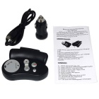 FM12 HFP&A2DP Steering Wheel Hands-Free BT Car Speaker Phone - Black