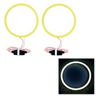 Wide Voltage 100mm 3.7V Cool White Light Angel Eyes w/ Driver (2 PCS / DC 12~24V)