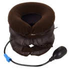Manually Adjustable Cervical Spine Traction Pillow - Light Brown