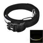 Outdoor Sports Running Physical Exercise LED Waist Belt - Black + White