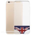 UK National Flag Underpants Pattern Protective TPU Case fro IPHONE 6 / 6S - Transparent + Black