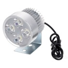 5W Cool White Light 4-LED 500lm Spotlight for Motorcycle, Bike