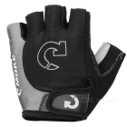 MOke Bike Motorcycle Anti-Slip Half-Finger Gloves - Black + Grey (M)