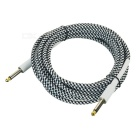 6.35mm to 6.35mm M-M Audio Cable for Guitar - White + Black (5m)