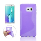Candy Color TPU Soft Rubber Skin Cover For Samsung Galaxy S6 Edge Plus G9280 Phone Case(Purple)