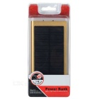 3000mAh Solar Power Bank w/ LED, Flashlight for IPHONE / IPOD - Golden
