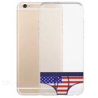 US Flag Printed Briefs Pattern TPU Protective Back Case Cover for IPHONE 6 / 6S - Transparent