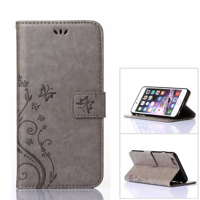 Mo.mat funda estilo wallet para IPHONE 6 PLUS / 6S PLUS - gris