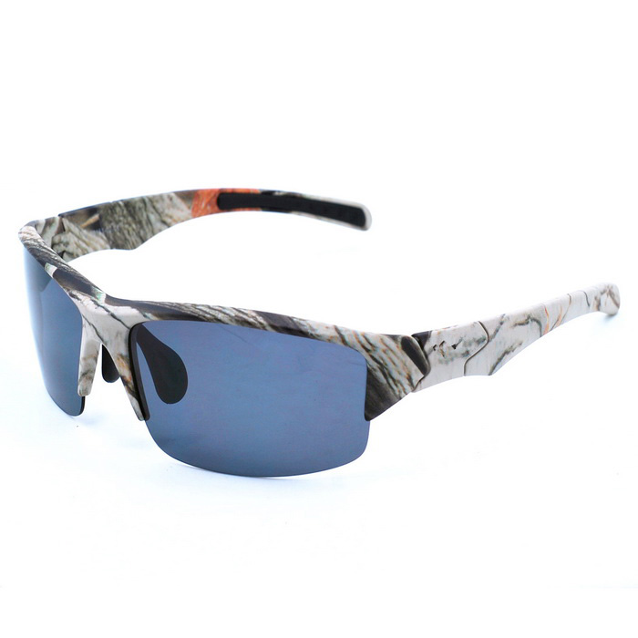 OSSAT 99151 UV 400 Protection PC Lenses Sports Sunglasses - ACU + Grey