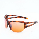 OSSAT UV Protection PC Frame Polarized Lenses Outdoor Sports Sunglasses - Agate Red + Orange
