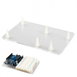 Acrylic Bottom Plate Case Fixed Shell for Arduino UNO R3