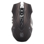 JS Classic 10-Key Wireless Professional Game Mouse w/ Colorful LED Light - Black