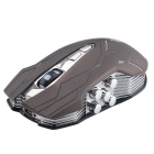 JS Classic 10-Key Wireless Game Mouse w/ Colorful LED Light - Black