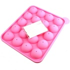 Spherical Lollipop Ice Lattice Baking Silicone Chocolate Mold - Pink