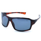 OSSAT UV Protection PC Frame Polarized Lenses Outdoor Sports Sunglasses - Agate Red + Grey