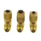 Car Air Conditioner Adjustable Quick Connectors Adapters Set - Golden