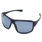 OSSAT UV Protection PC Frame Polarized Lenses Outdoor Sports Sunglasses - Black + Grey