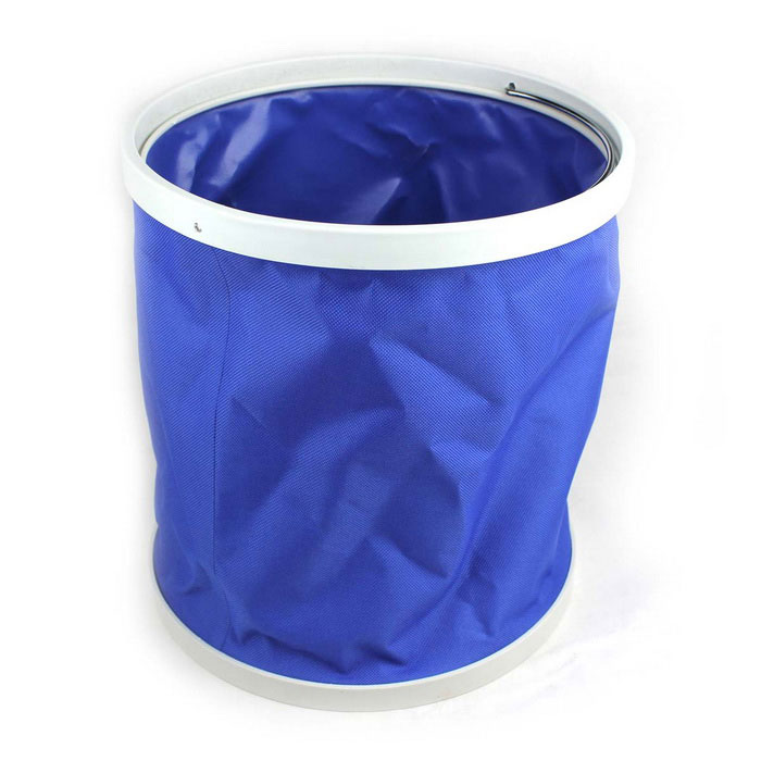 9L Multifunctional Portable Foldable Canvas Bucket - Blue