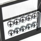 Newton Cradle Balance Balls Gift Desktop Decoration - Black + Silver