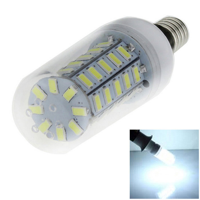 E14 5W 48-SMD LED 1200lm Cold White Light Corn Lamp