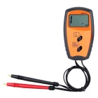 "Portable 1.5"" LCD 0~100V Battery Internal Resistance Voltage Meter Voltmeter - Black + Orange"