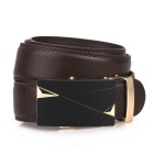 Fanshimite J13 Men's Automatic Buckle Cow Split Leather Belt - Brown (115cm)