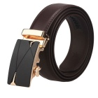 Men's Automatic Buckle Belt Leather Floor - Brown (130cm)