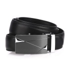 Fanshimite J14 Leather Belt w/ Geometry Pattern Buckle - Black (115cm)