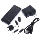 Solar Powered 2000mAh Rechargeable Portable Emergency Power with Phone Adapters + LED Light