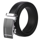 Masculina J15 Fanshimite Automatic Buckle Cow Split couro Belt - Black (160cm)