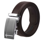 Fanshimite J15 Men's Automatic Buckle Leather Belt - Brown (120cm)