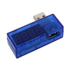 USB Charge Current & Voltage Tester Mobile Power Tester - Blue