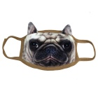 Lovely Bulldog Style Keep Warm Mask - Multi-Colored