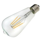NEW E27 4W 360lm 3000K Warm White Light 4-LED Filament Bulb (AC 220~240V)