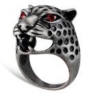 Xinguang Women's Leopard Eyes Style Finger Ring - Silver (US 7)