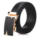 Men's Automatic Buckle Belt Leather Floor - Black (110cm)