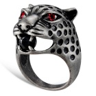 Xinguang Women's Retro Red Crystal Finger Ring