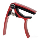 Meideal MC20U Professional Quick Change Trigger Key Capo Clamp for Ukulele - Red